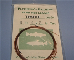 FFP 12' Hand Tied Trout Leader